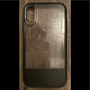 iPhone 10 otter box case Black & Clear